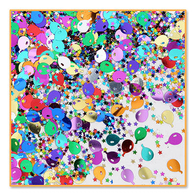 Balloons & Stars Confetti - CONFETTI - Party Supplies - America Likes To Party