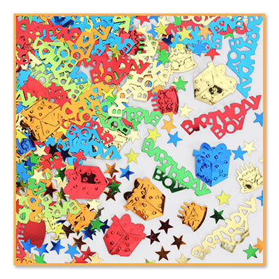 Birthday Boy Confetti - CONFETTI - Party Supplies - America Likes To Party