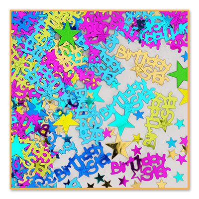 Birthday Star Confetti - CONFETTI - Party Supplies - America Likes To Party