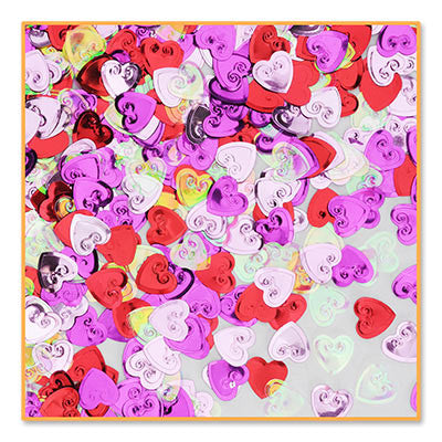 Embossed Hearts Confetti - CONFETTI - Party Supplies - America Likes To Party
