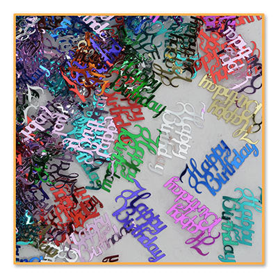 Fancy Happy Birthday Confetti - CONFETTI - Party Supplies - America Likes To Party