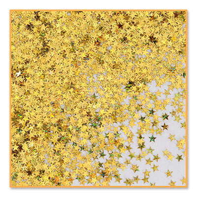 Gold Holographic Stars Confetti - CONFETTI - Party Supplies - America Likes To Party