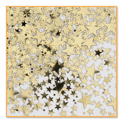 Gold Stars Confetti - CONFETTI - Party Supplies - America Likes To Party