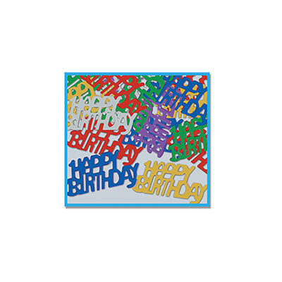 Happy Birthday Confetti - CONFETTI - Party Supplies - America Likes To Party