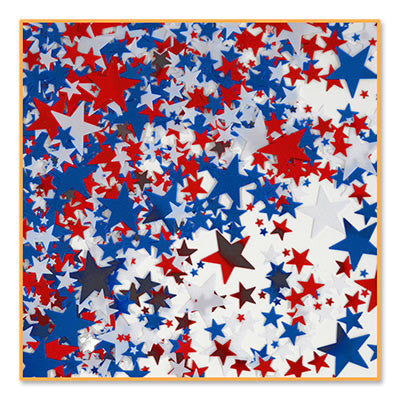 Red, White & Blue Stars Confetti - CONFETTI - Party Supplies - America Likes To Party