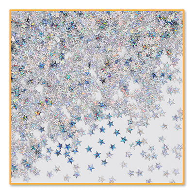 Silver Holographic Stars Confetti - CONFETTI - Party Supplies - America Likes To Party