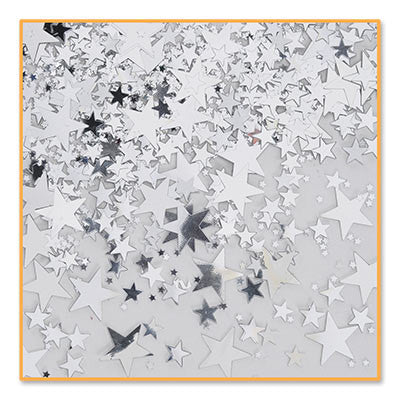 Silver Stars Confetti - CONFETTI - Party Supplies - America Likes To Party