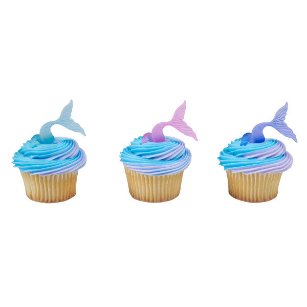 Mermaid Tail Cupcake Rings 12ct - CUPCAKE - Party Supplies - America Likes To Party