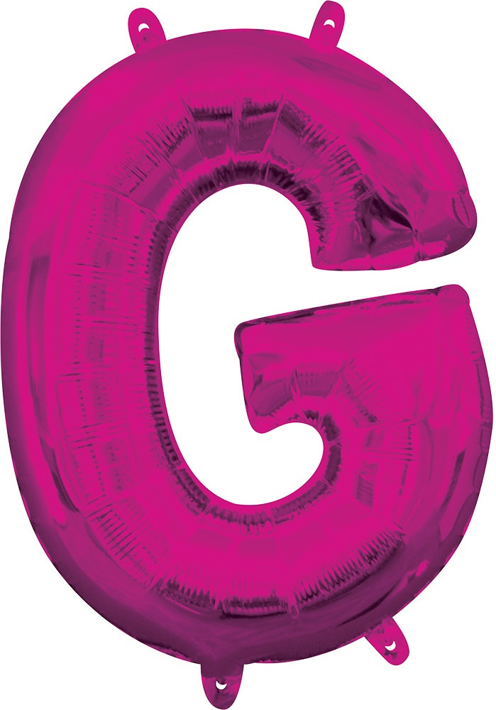 Air Filled Magenta Letter G Balloon