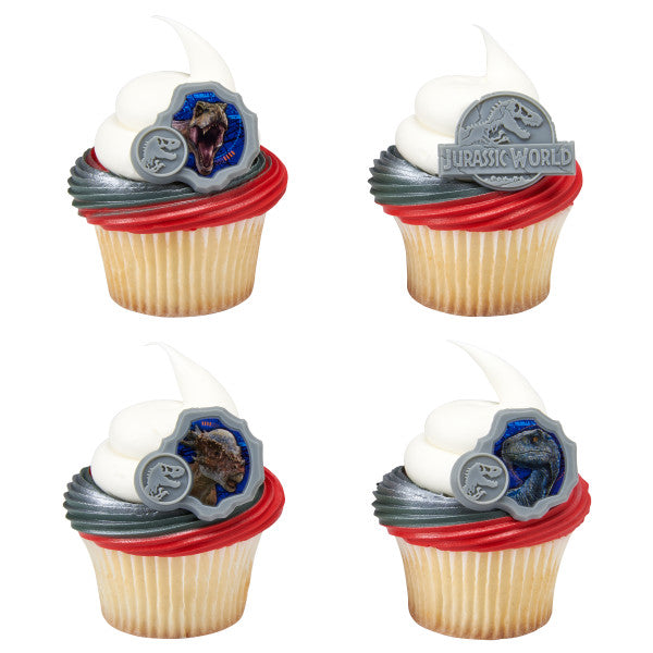 Jurassic World Cupcake Rings 12ct - CUPCAKE - Party Supplies - America Likes To Party