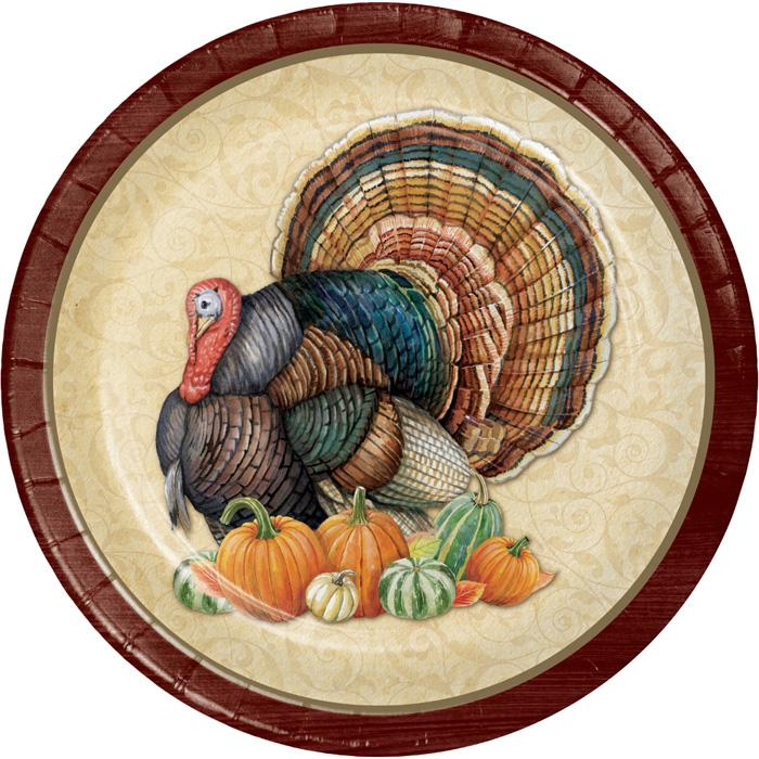 Harvest Turkey Dessert Plates
