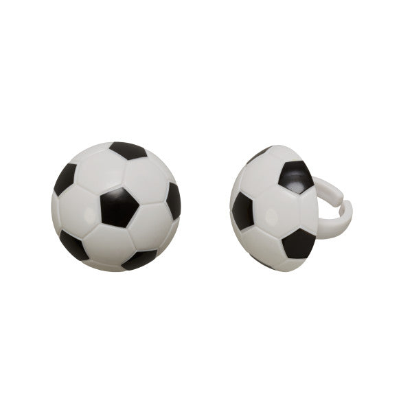 Soccer Cupcake Rings 12ct - CUPCAKE - Party Supplies - America Likes To Party