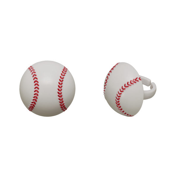 Baseball Cupcake Rings 12ct - CUPCAKE - Party Supplies - America Likes To Party