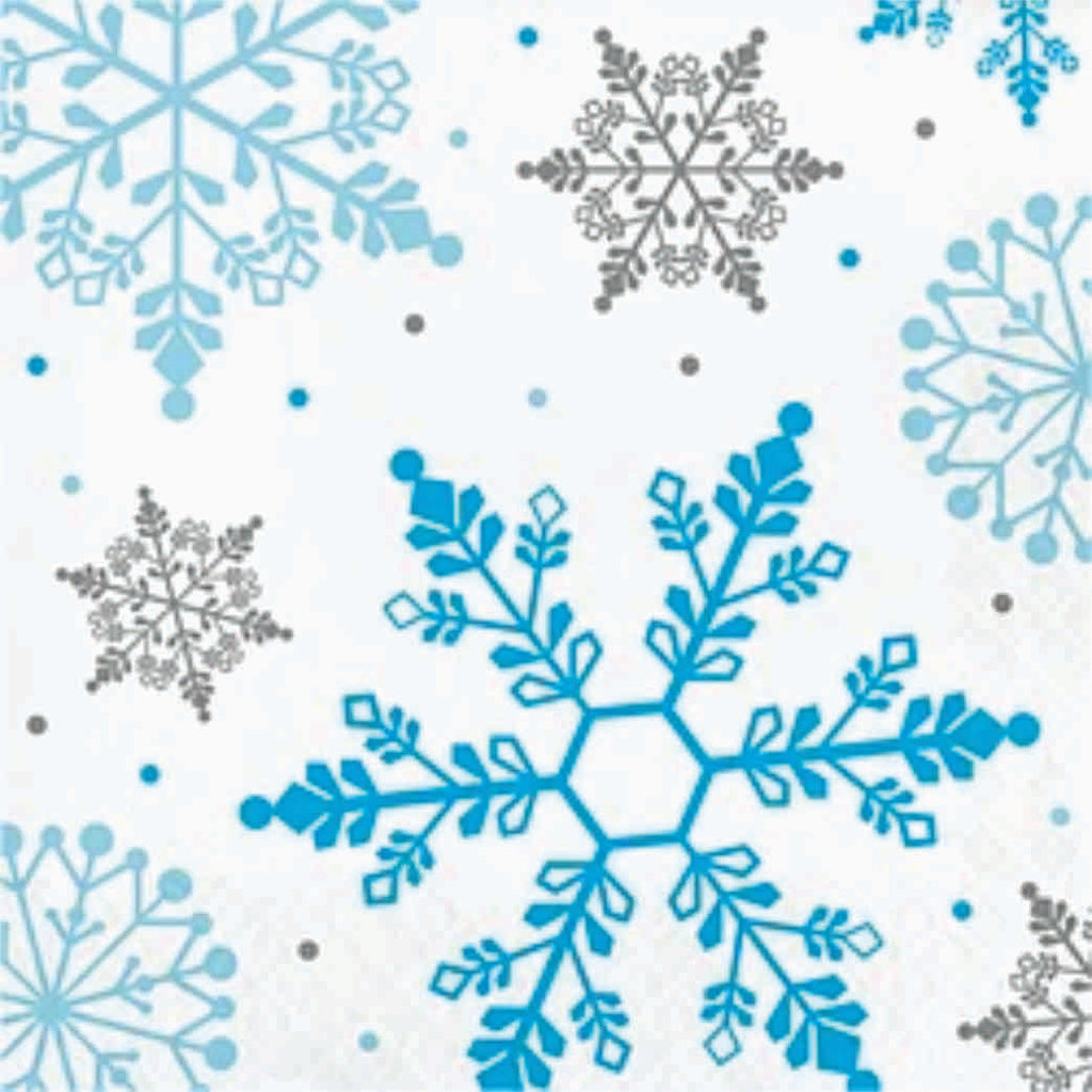 Winter Snowflakes Lunch Napkins