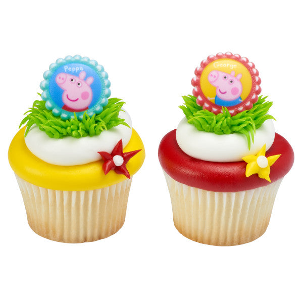 Peppa Pig Cupcake Rings 12ct - CUPCAKE - Party Supplies - America Likes To Party