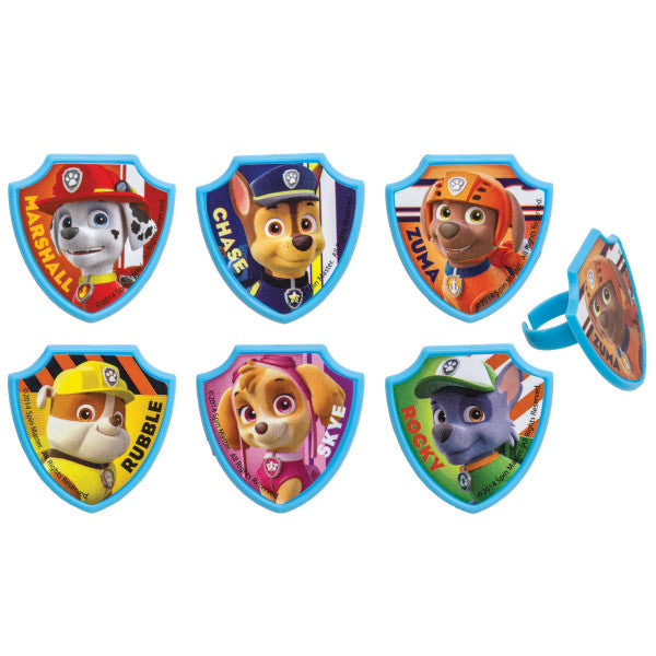 Paw Patrol Cupcake Rings 12ct - CUPCAKE - Party Supplies - America Likes To Party