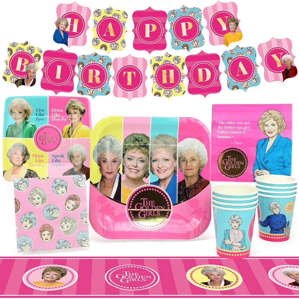 Golden Girls Party Pack for 8