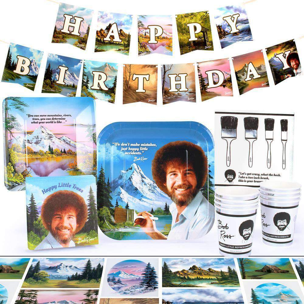 Bob Ross Party Pack for 8 People
