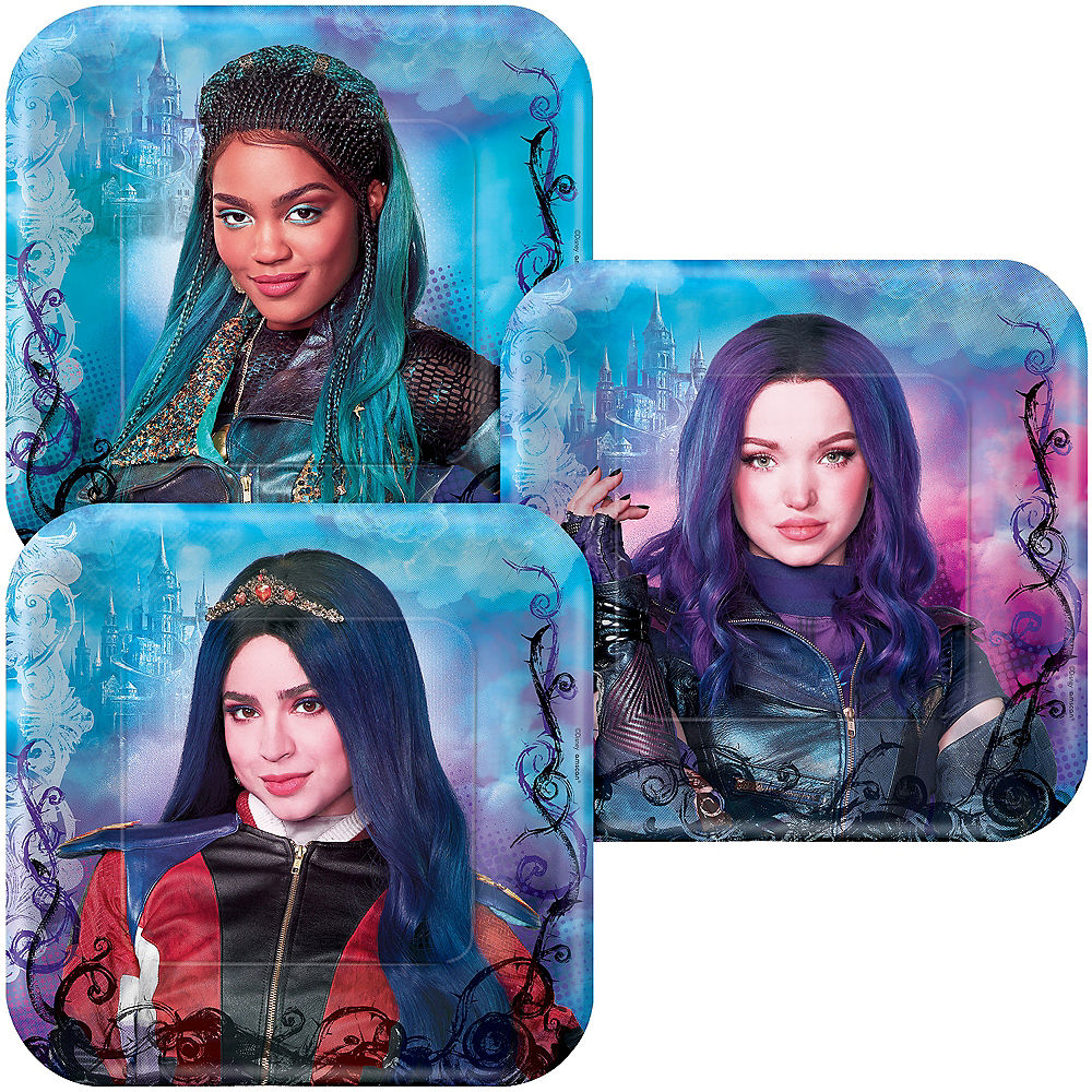 Descendants 3 Dessert Plates
