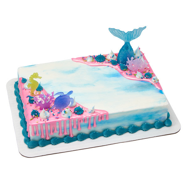 Mermaid Cake Kit - CAKE DECORATIONS - Party Supplies - America Likes To Party