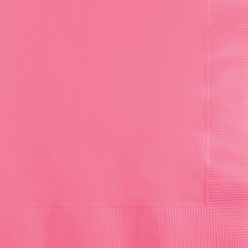 Bright Pink Big Party Pack Beverage Napkins 125ct - BIG PARTY PACKS - Party Supplies - America Likes To Party