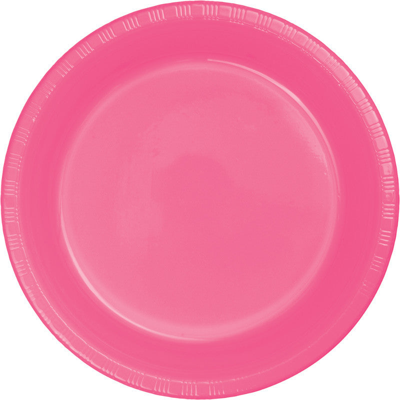 Bright Pink Big Party Pack Plastic Dinner Plates 50ct - BIG PARTY PACKS - Party Supplies - America Likes To Party