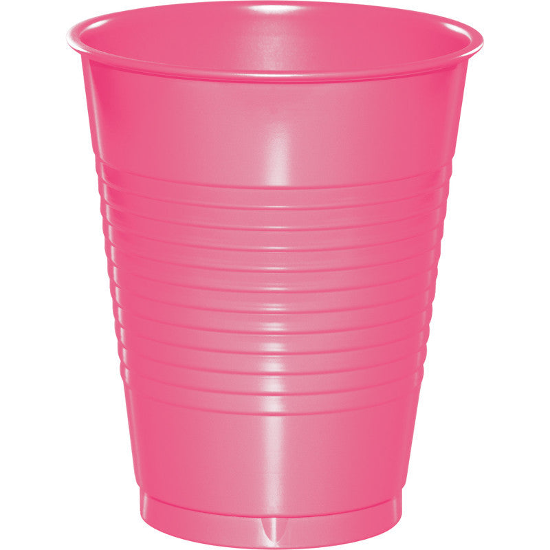 Bright Pink Big Party Pack Plastic 16oz Cups 50ct - BIG PARTY PACKS - Party Supplies - America Likes To Party