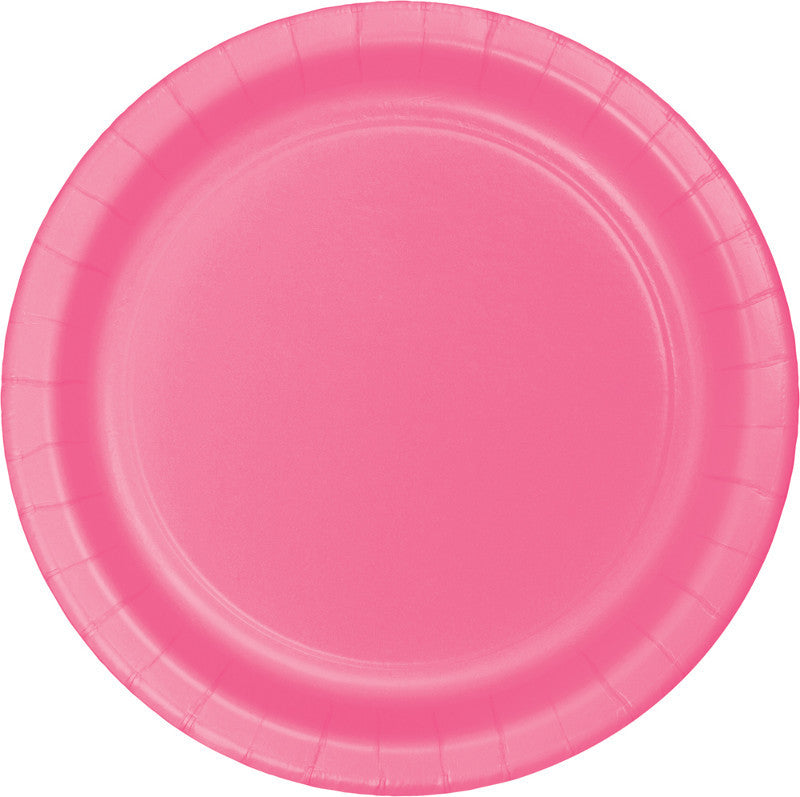 Bright Pink Big Party Pack Paper Dessert Plates 50ct - BIG PARTY PACKS - Party Supplies - America Likes To Party