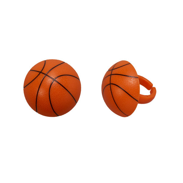Basketball Cupcake Rings 12ct - CUPCAKE - Party Supplies - America Likes To Party