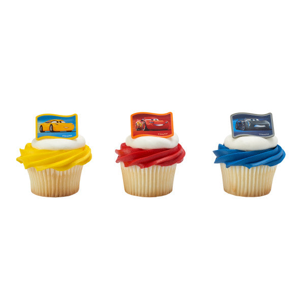 Cars 3 Cupcake Rings 12ct - CUPCAKE - Party Supplies - America Likes To Party