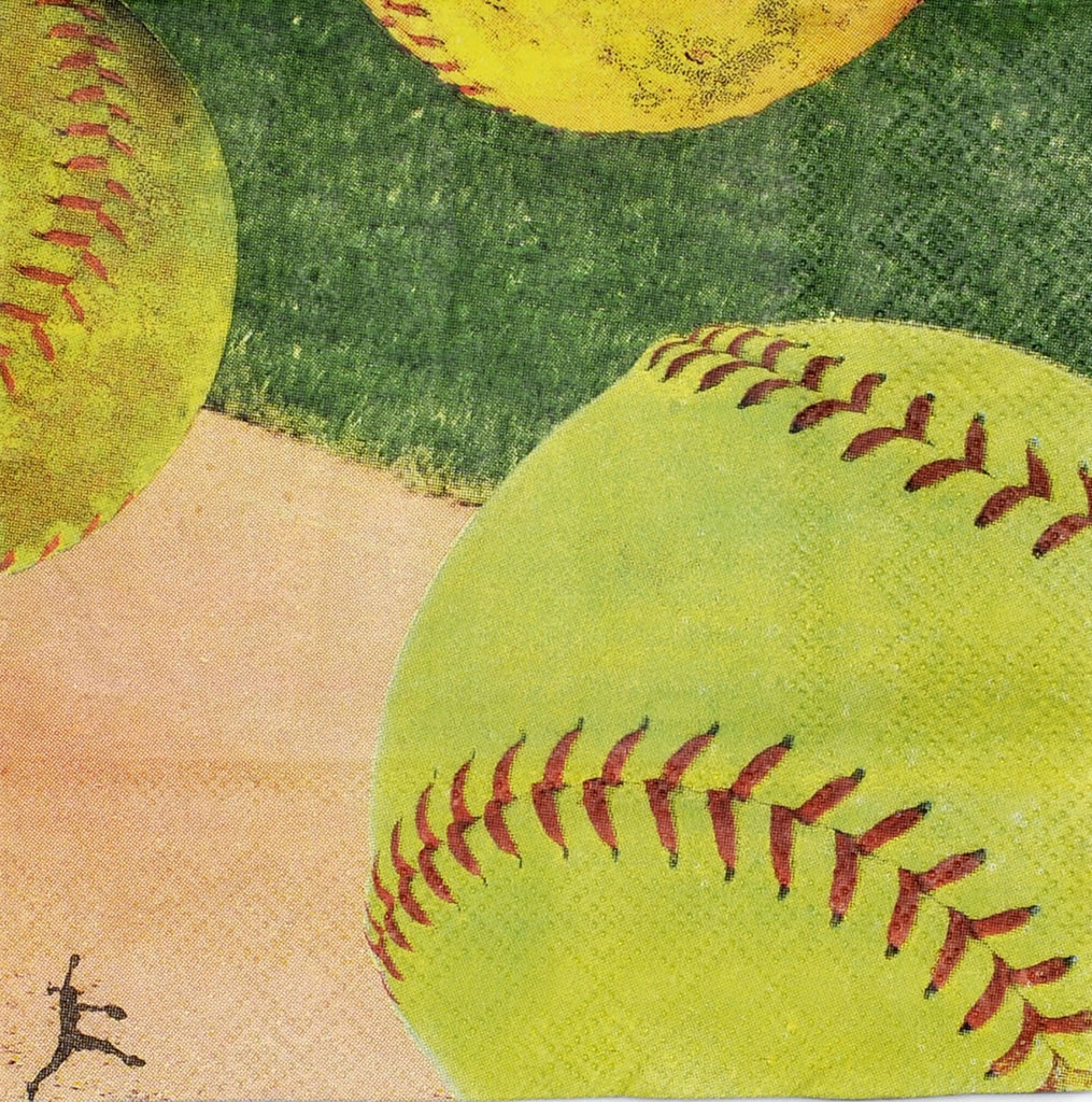 Softball Beverage Napkins 16ct - BASEBALL/SOFTBALL - Party Supplies - America Likes To Party
