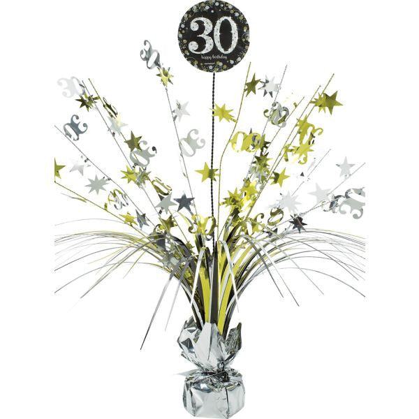 30th Sparkling Celebration Spray Centerpiece - SPARKLING CELEBRATION - Party Supplies - America Likes To Party