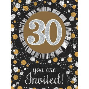 30th Sparkling Celebration Invitations - SPARKLING CELEBRATION - Party Supplies - America Likes To Party