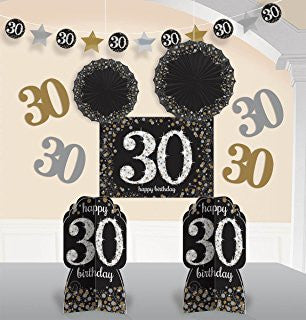 30th Sparkling Celebration Room Decorationg Kit - SPARKLING CELEBRATION - Party Supplies - America Likes To Party