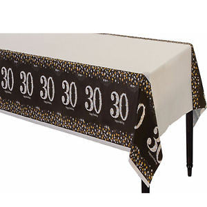 30th Sparkling Celebration Tablecover - SPARKLING CELEBRATION - Party Supplies - America Likes To Party