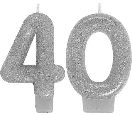 40th Sparkling Celebration Candle - SPARKLING CELEBRATION - Party Supplies - America Likes To Party