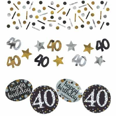 40th Sparkling Celebration Confetti - SPARKLING CELEBRATION - Party Supplies - America Likes To Party