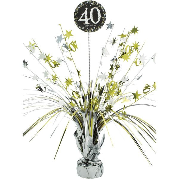 40th Sparkling Celebration Spray Centerpiece - SPARKLING CELEBRATION - Party Supplies - America Likes To Party