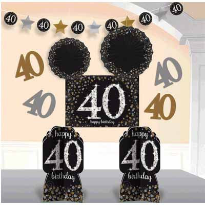 40th Sparkling Celebration Room Decorationg Kit - SPARKLING CELEBRATION - Party Supplies - America Likes To Party