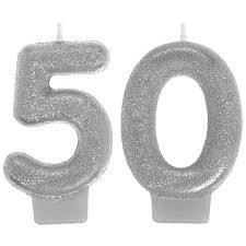 50th Sparkling Celebration Candle - SPARKLING CELEBRATION - Party Supplies - America Likes To Party