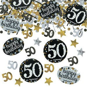 50th Sparkling Celebration Confetti - SPARKLING CELEBRATION - Party Supplies - America Likes To Party