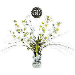 50th Sparkling Celebration Spray Centerpiece - SPARKLING CELEBRATION - Party Supplies - America Likes To Party