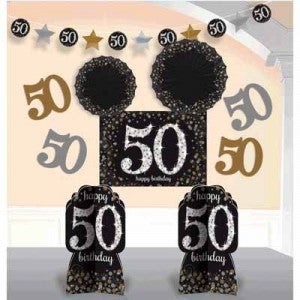 50th Sparkling Celebration Room Decorationg Kit - SPARKLING CELEBRATION - Party Supplies - America Likes To Party