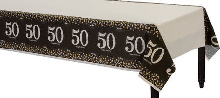 50th Sparkling Celebration Tablecover - SPARKLING CELEBRATION - Party Supplies - America Likes To Party