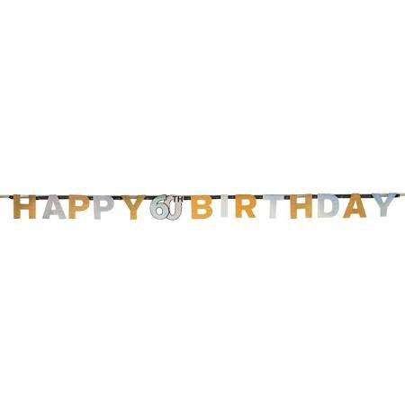 60th Sparkling Celebration Letter Banner - SPARKLING CELEBRATION - Party Supplies - America Likes To Party