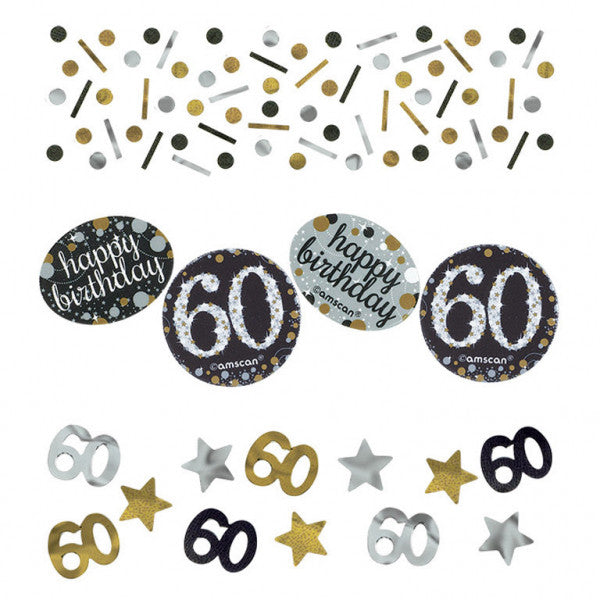 60th Sparkling Celebration Confetti - SPARKLING CELEBRATION - Party Supplies - America Likes To Party