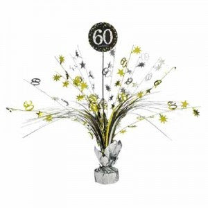 60th Sparkling Celebration Spray Centerpiece - SPARKLING CELEBRATION - Party Supplies - America Likes To Party