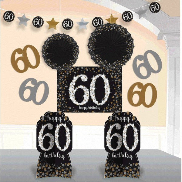 60th Sparkling Celebration Room Decorationg Kit - SPARKLING CELEBRATION - Party Supplies - America Likes To Party
