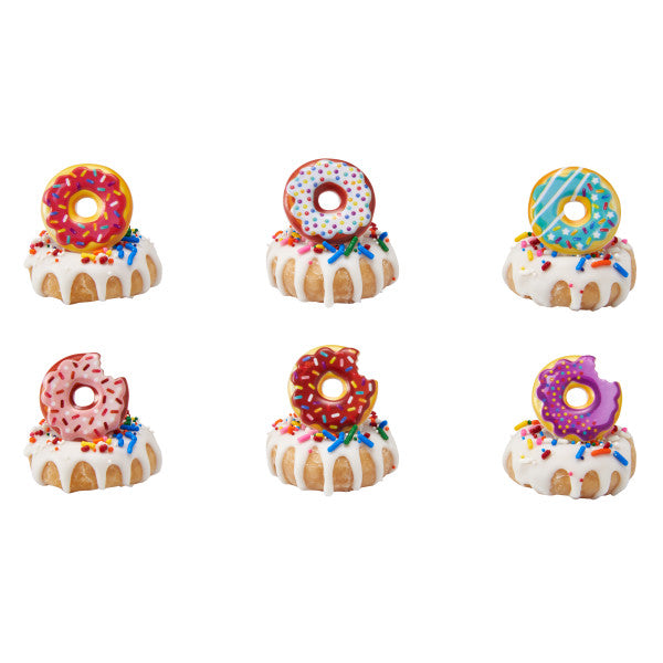 Donut Cupcake Rings 12ct - CUPCAKE - Party Supplies - America Likes To Party