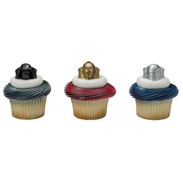 Star Wars Cupcake Rings 12ct - CUPCAKE - Party Supplies - America Likes To Party